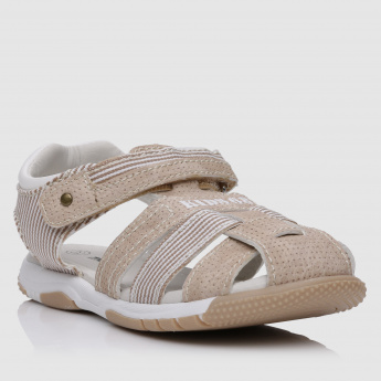 Slip-On Sandals with Hook and Loop Closure