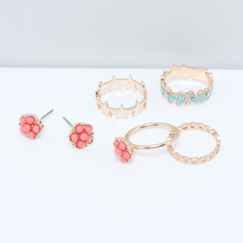 Assorted Earrings and Finger Ring Set