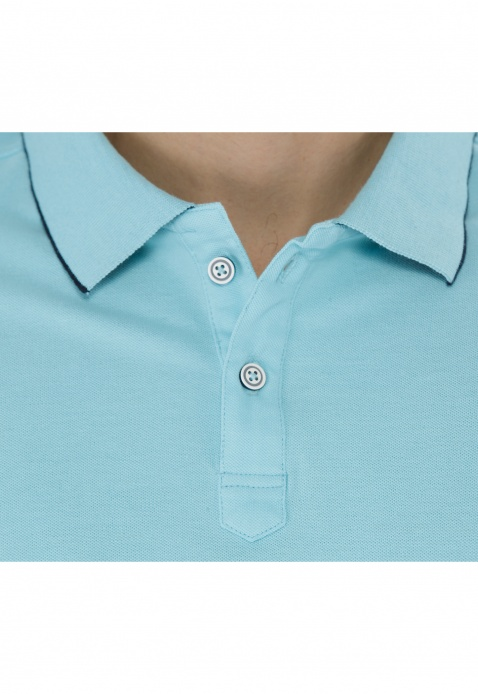 Short-sleeved Polo Neck T-shirt