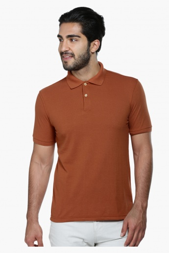 Short Sleeves Polo Neck T-Shirt in Regular Fit