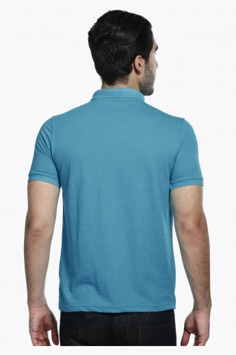 Short Sleeves T-Shirt with Polo Neck in Regular Fit