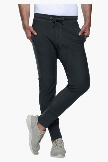 Full Length Jog Pants with Elasticised Waistband in Slim Fit