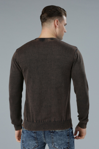 Sweater with Long Sleeves and V-Neck
