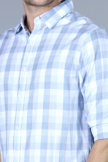 Chequered Long Sleeves Casual Shirt with Tabs