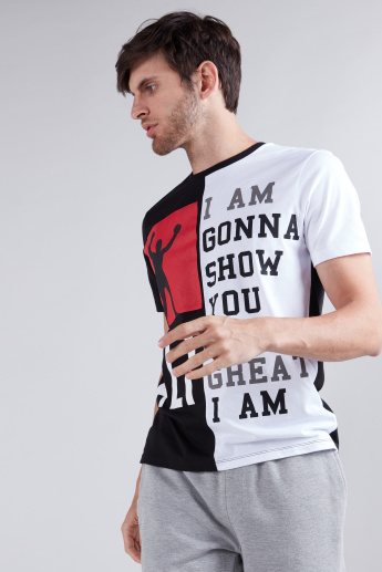 Muhammad Ali Graphic Printed T-Shirt in Regular Fit