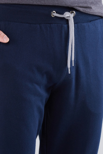 Tape and Pocket Detail Jog Pants with Drawstring