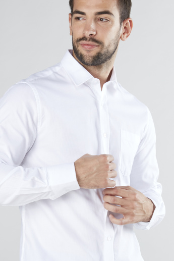 Long Sleeves Shirt with Chest Pocket and Complete Placket