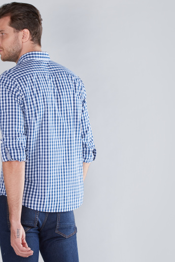 Chequered Pocket Detail Shirt with Long Sleeves