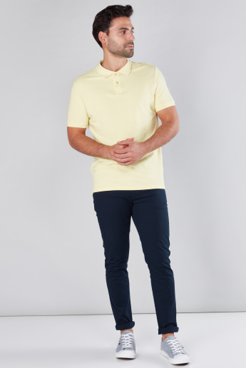 Pocket Detail Chinos in Skinny Fit with Belt Loops