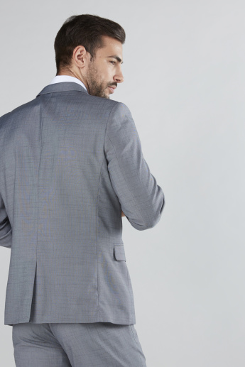 Textured Long Sleeves Formal Blazer with Pocket Detail