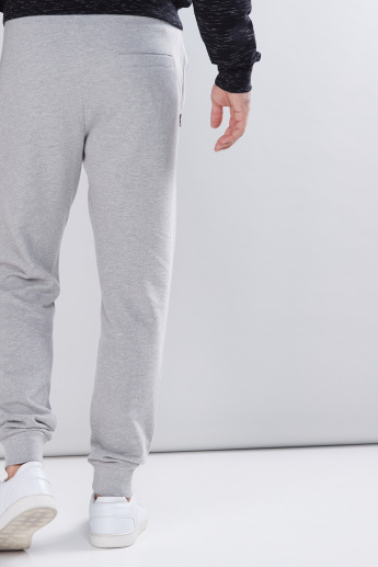 Biker Jog Pants with Zip Pockets and Drawstring