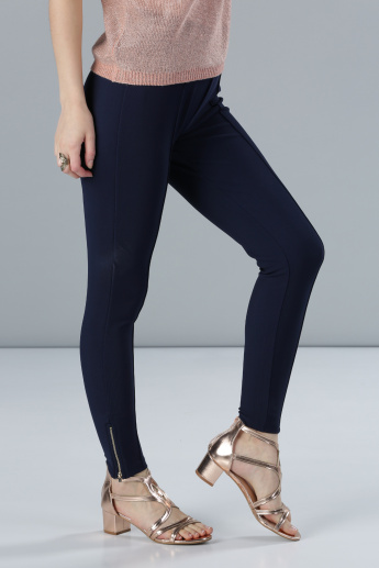 Full Length Leggings with Zip Detail