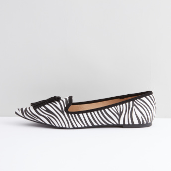 Ballerina with Tassel Detail and Zebra Stripes