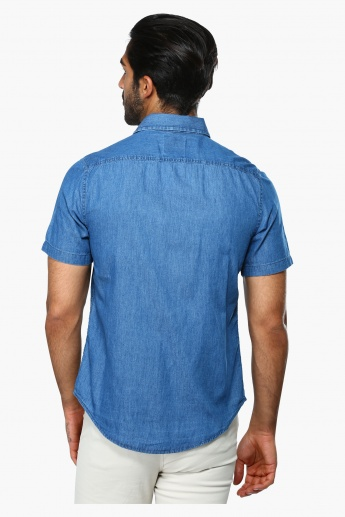 Short Sleeves Shirt with Flap Pockets