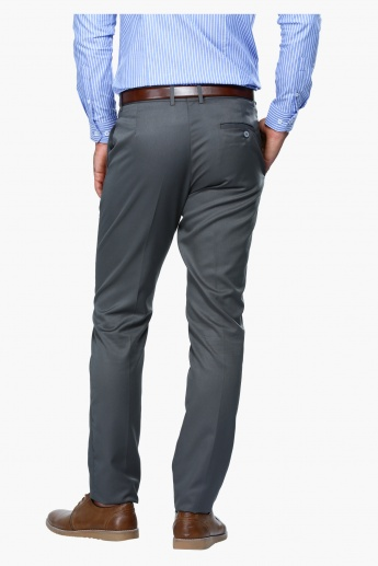 Straight Fit Mid Rise Formal Trousers