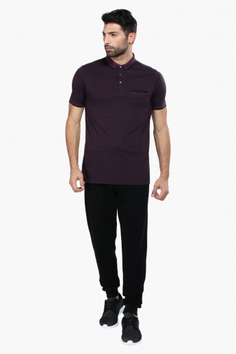 Short Sleeves T-Shirt with Polo Neckline