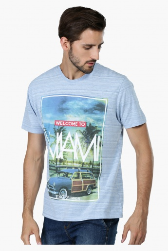 Printed Short Sleeves T-Shirt with Short Sleeves