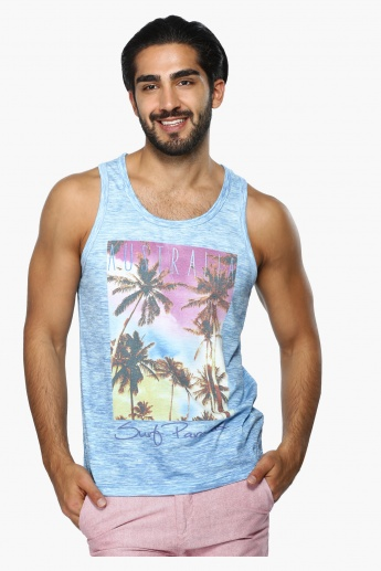 Printed Sleeveless Vest