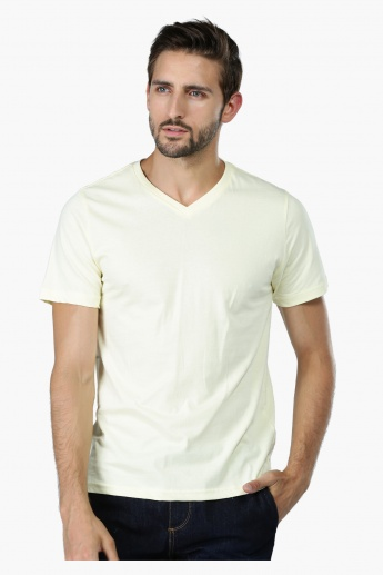 Short Sleeves Shirt with V-Neck