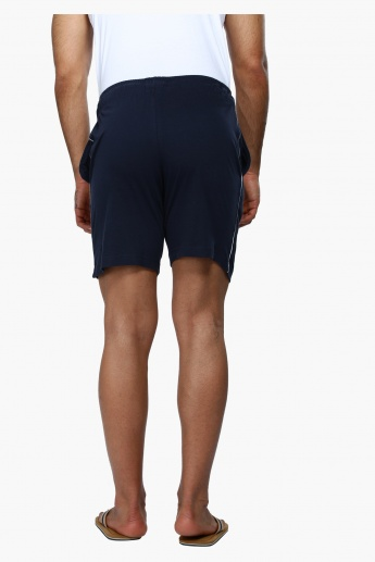 Knitted Lounge Shorts with Side Piping