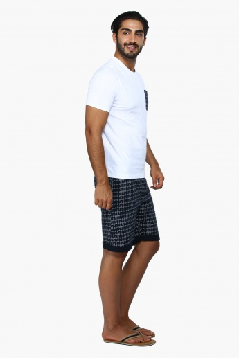Knitted Short Sleeves T-Shirt and Shorts Set