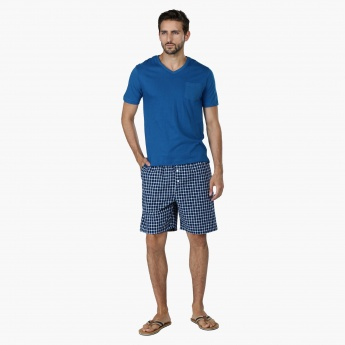 V-Neck T-shirt and Shorts Set