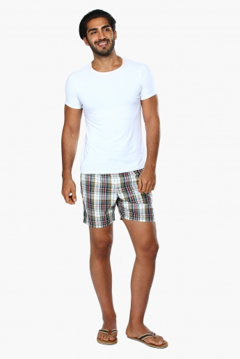 Chequered Shorts with Elasticised Waistband