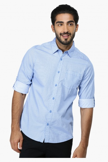 Printed Long Sleeves Casual Shirt in Regular Fit