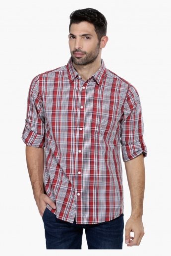 Chequered Shirt with Roll Up Sleeves