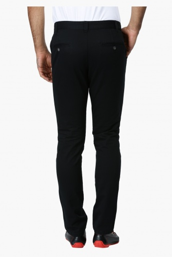 Basic Slim Fit Mid Rise Trousers