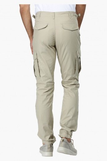 Straight Fit Mid Rise Cargo Pants