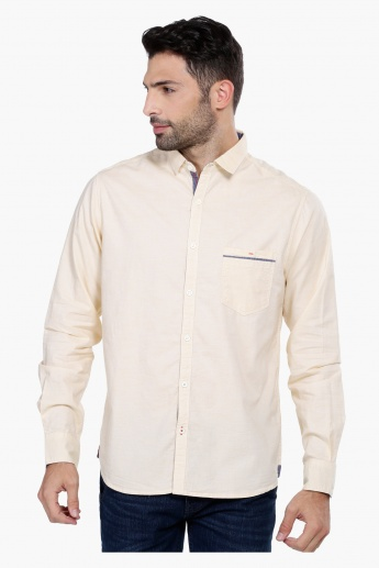 Shirt with Long Sleeves and Pocket Detail