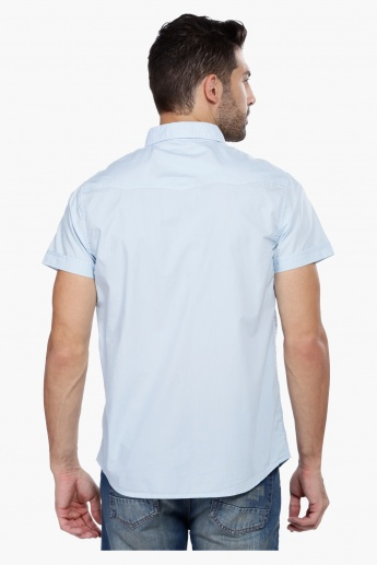 Shirt with Short Sleeves and Pocket Detailing