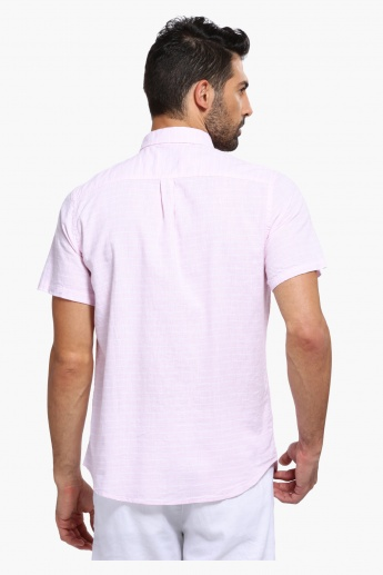 Short Sleeves Shirt with Dual Pockets