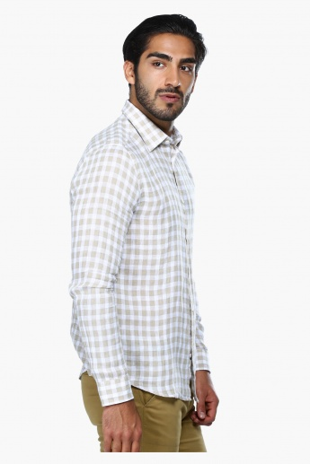 Chequered Long Sleeves Casual Shirt