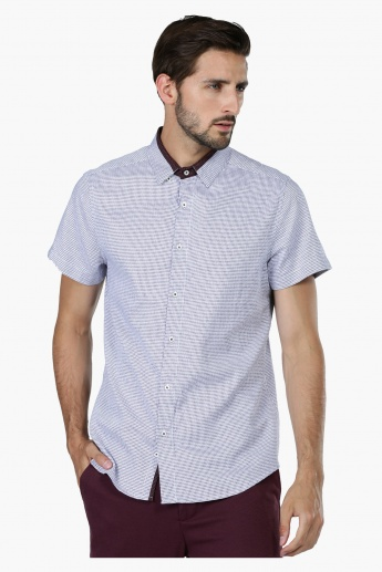 Chequered Short Sleeves Shirt