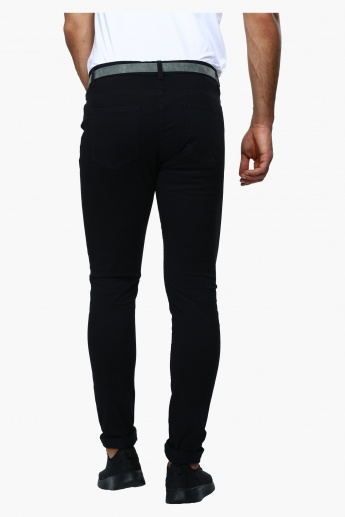Full Length Skinny Fit Trousers with 5 Pockets