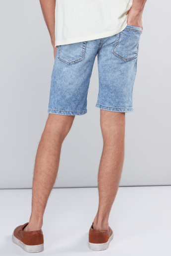 Pocket Detail Shorts with Button Closure and Drawstring