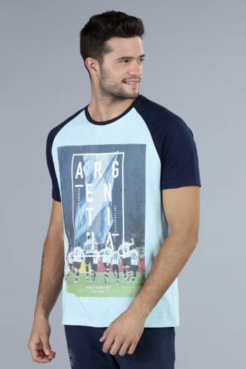 Football Special Argentina Printed T-Shirt with Round Neck