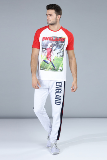 Football Special England Printed T-Shirt with Raglan Sleeves