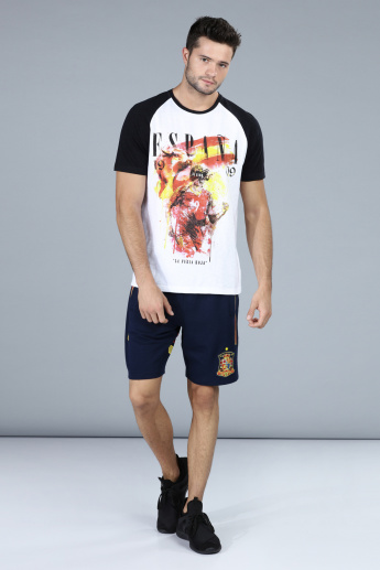 Football Special Espana Printed T-Shirt with Raglan Sleeves
