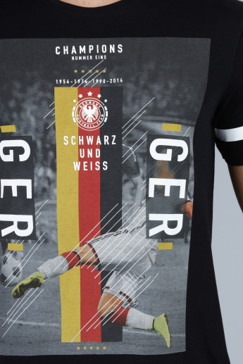 Football Special Germany Printed T-Shirt with Short Sleeves