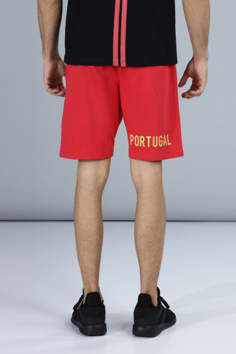 Football Special Portugal Applique Shorts with Pocket Detail