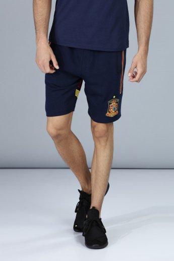 Football Special Espana Applique Shorts with Pocket Detail