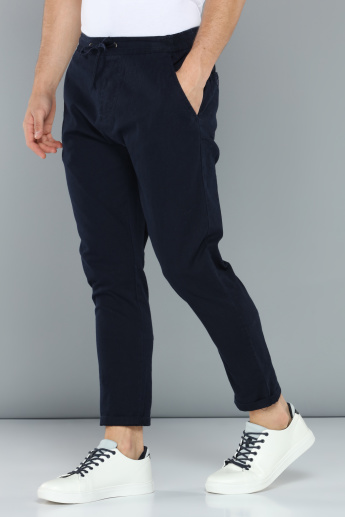 Full Length Pants with Elasticised Waistband and Drawstring