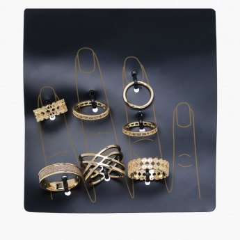 Textured Ring - Set of 7