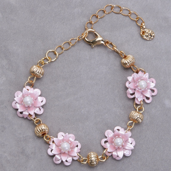 Flower Bracelet with Lobster Clasp