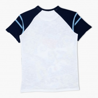Cherokee Printed Round Neck T-Shirt with Short Sleeves