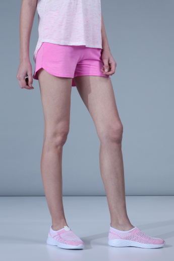 Shorts with Elasticised Waistband and Pocket Detail