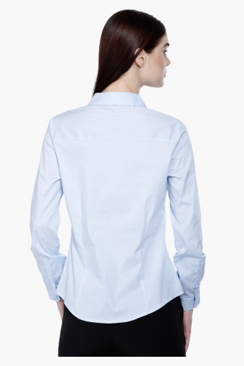 Long Sleeves Shirt with Complete Button Placket in Regular Fit